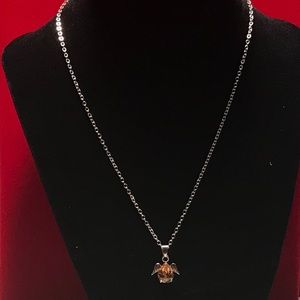 Jewelry - Girls Angel Wings Orange Stone Necklace